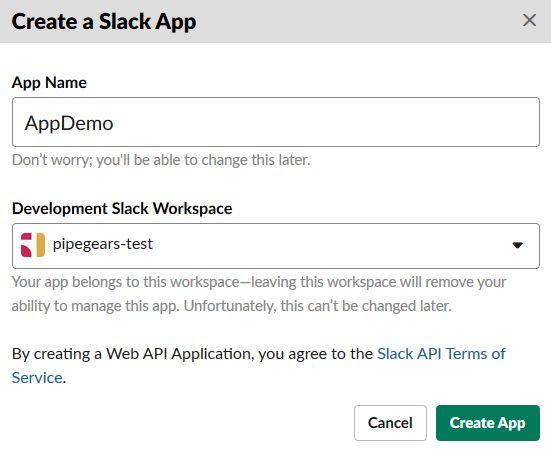Create a Slack App