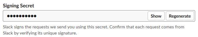 Slack Signing Secret