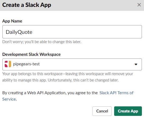 Send Scheduled Messages to Slack - PipeGears Serverless