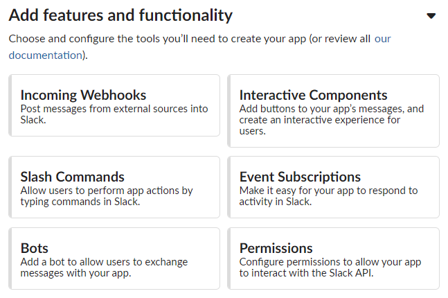 Slack features and functionality